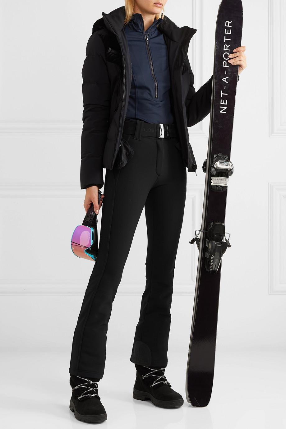 Goldbergh Pantalon de ski évasé en tissu technique stretch à ceinture Pippa