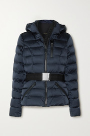 Goldbergh Soldis hooded belted quilted down ski jacket