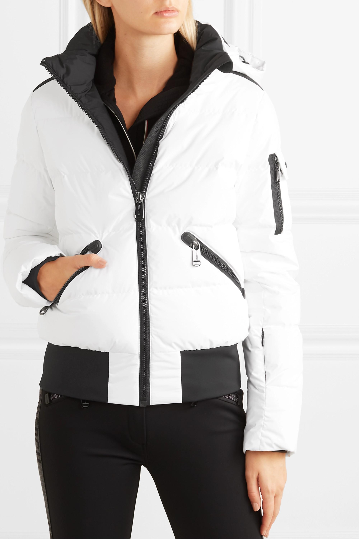 Goldbergh Kohana hooded appliquéd quilted down ski jacket
