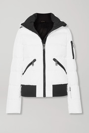 Goldbergh Kohana hooded appliquéd quilted down ski jacket