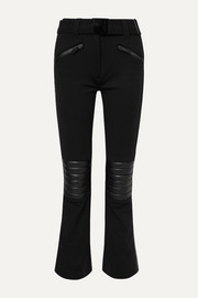 Rocky faux leather-paneled ski pants