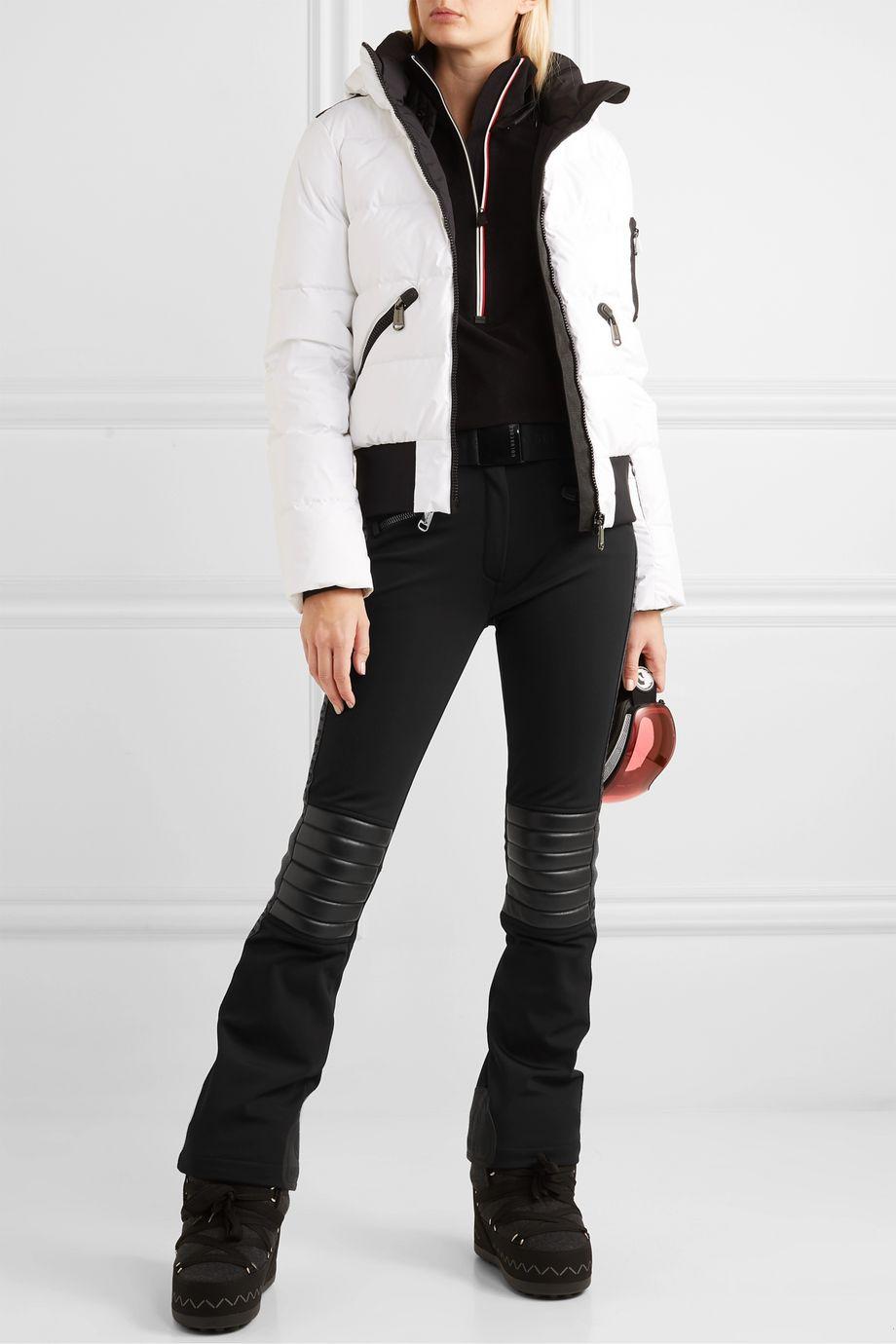 Goldbergh Rocky faux leather-paneled ski pants