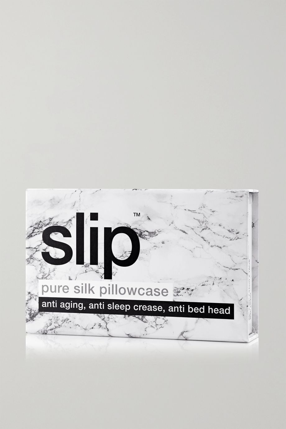 Slip Embroidered printed silk queen pillowcase