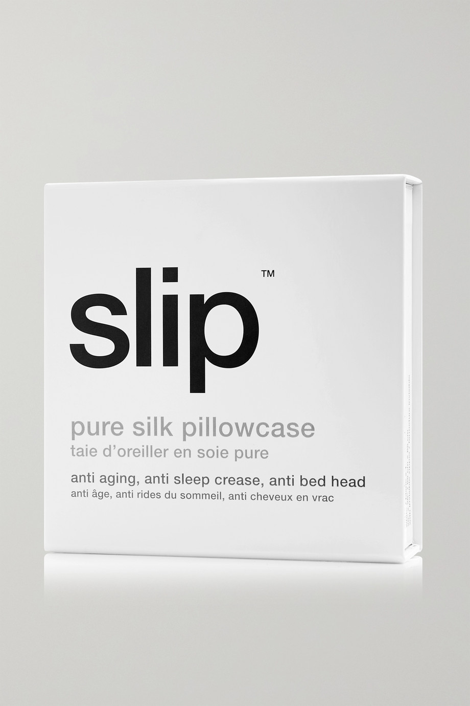 Slip Embroidered silk-satin Euro sham pillow
