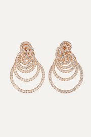 Boucles d'oreilles en or rose 18 carats et diamants Gypsy