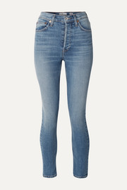 RE/DONE Stretch Ankle Crop high-rise skinny jeans