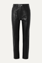 RE/DONE 50s Cigarette cropped straight-leg leather pants