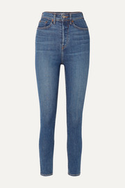RE/DONE Originals Ultra High-Rise Ankle Crop skinny jeans