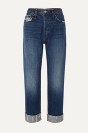 RE/DONE 90s Loose distressed low-rise straight-leg jeans