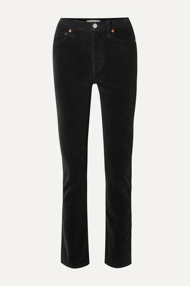 Re/done Pants COTTON-BLEND CORDUROY STRAIGHT-LEG PANTS