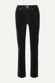 RE/DONE Cotton-blend corduroy straight-leg pants