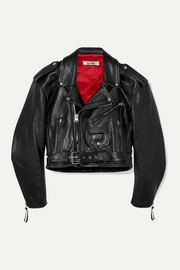 RE/DONE 80s cropped leather biker jacket
