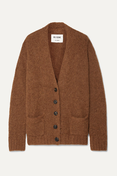 Re/done Knitwear 90S OVERSIZED KNITTED CARDIGAN