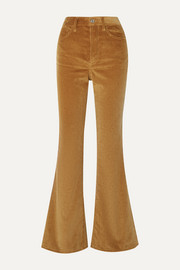 RE/DONE 70s Ultra High-Rise cotton-corduroy flared pants