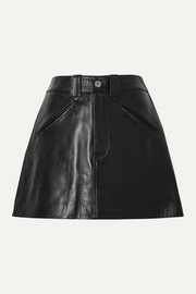 RE/DONE 40s Western leather mini skirt