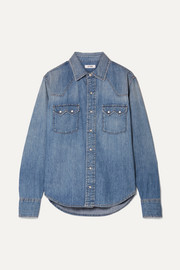 RE/DONE Sawtooth Western cotton-chambray shirt