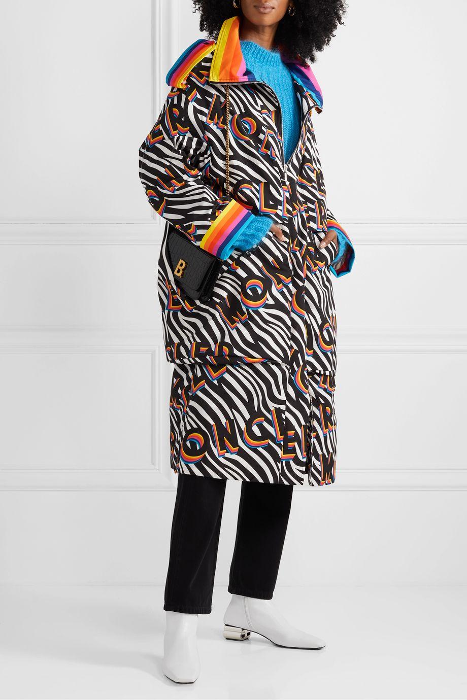 Moncler Genius + 0 Richard Quinn Ava oversized printed shell down coat