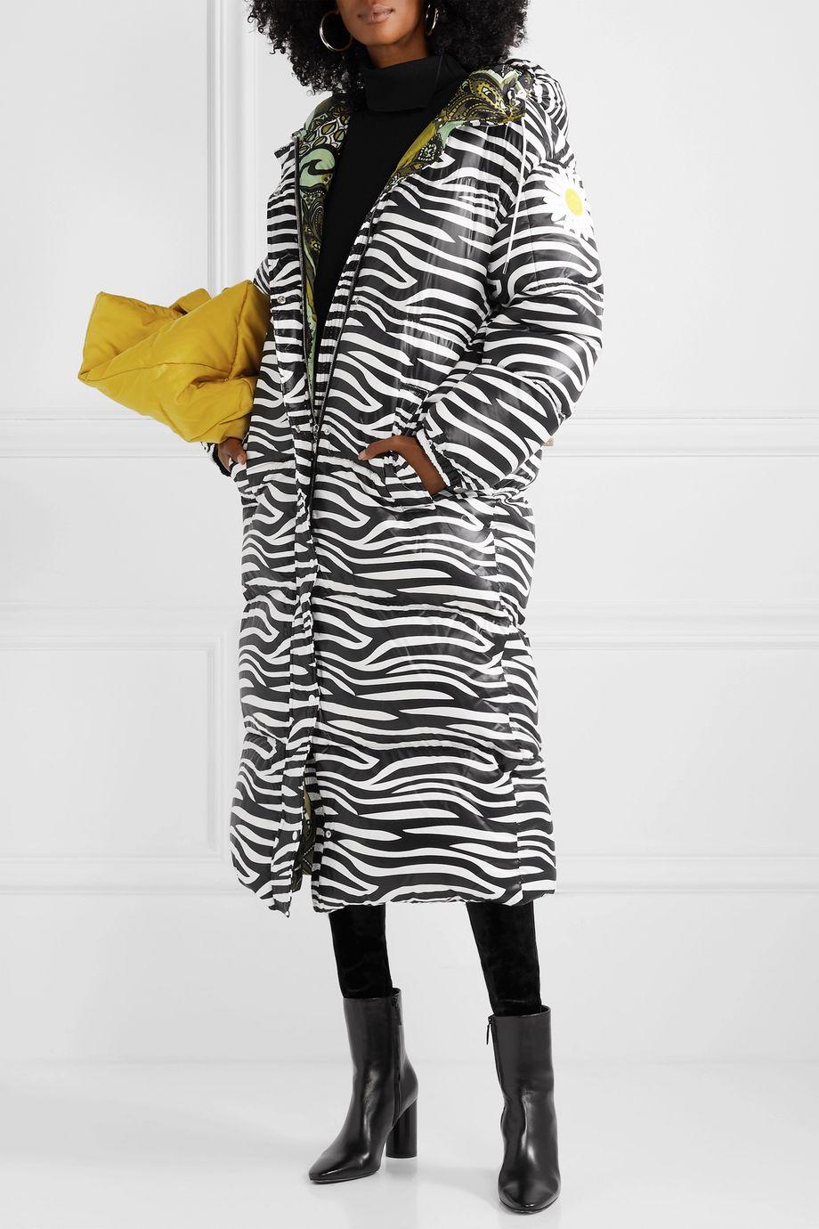 Moncler Genius + 0 Richard Quinn Tippi oversized zebra-print quilted shell down coat