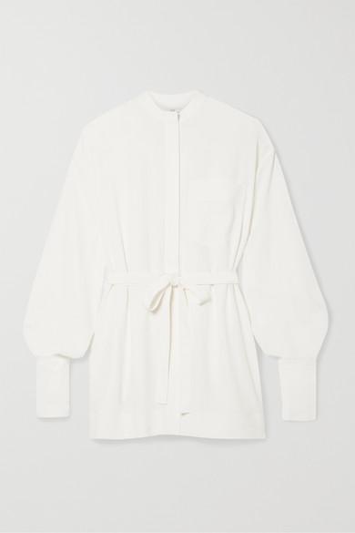 配腰带双绉衬衫 by Co