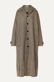 Co Checked woven trench coat