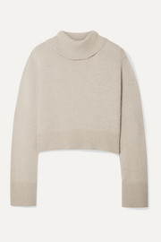 Co Cropped cashmere turtleneck sweater