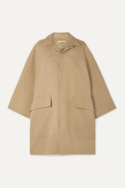 Co Cotton and wool-blend gabardine coat