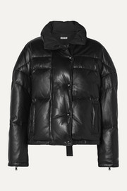 Jason Wu Cropped quilted leather down jacket