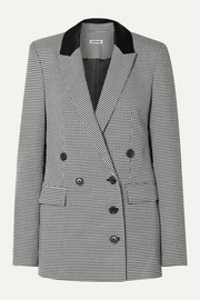 Jason Wu Double-breasted houndstooth woven blazer