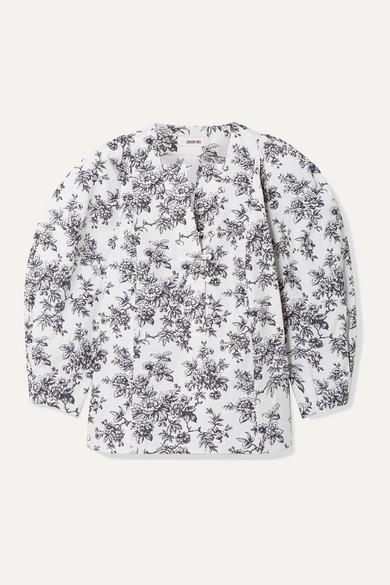 Jason Wu Tops Floral-print cotton-poplin blouse