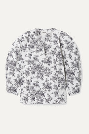 Jason Wu Floral-print cotton-poplin blouse