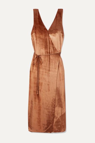 velvet-wrap-dress by vince