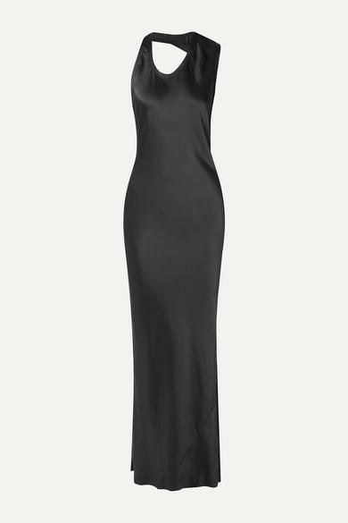 Helmut Lang Dresses Asymmetric satin gown