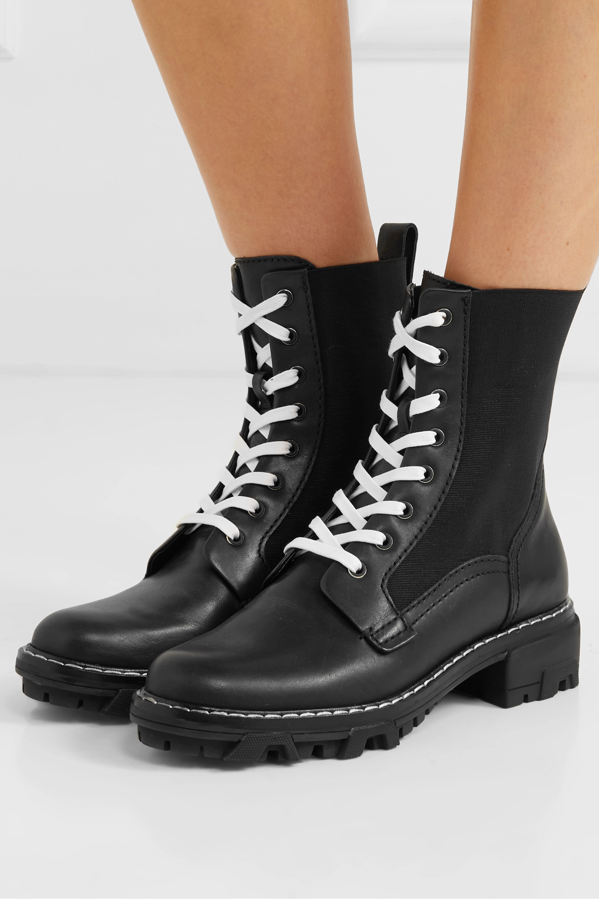 Black Shiloh leather ankle boots   rag
