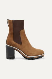 rag & bone Shiloh High leather-trimmed suede ankle boots
