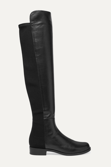 5050 Leather And Neoprene Knee Boots by Stuart Weitzman
