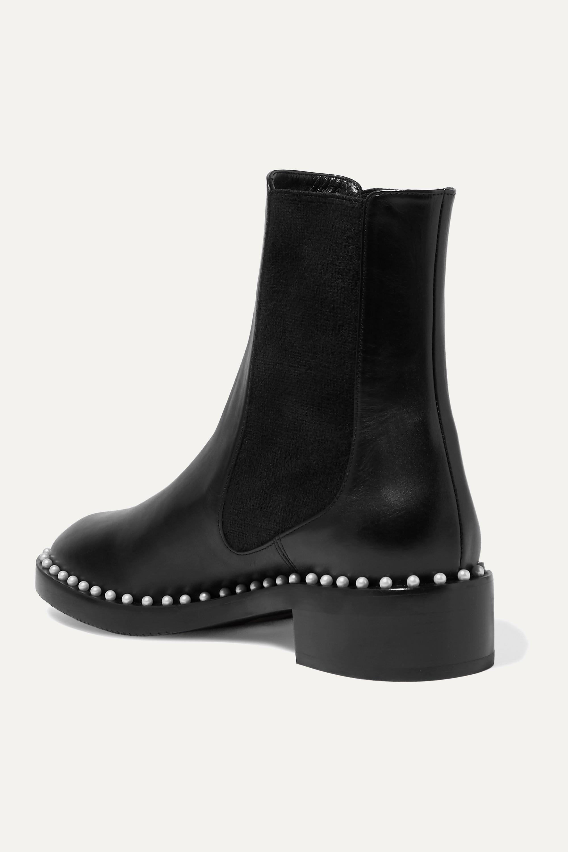 Stuart Weitzman Cline 人造珍珠缀饰皮革切尔西靴