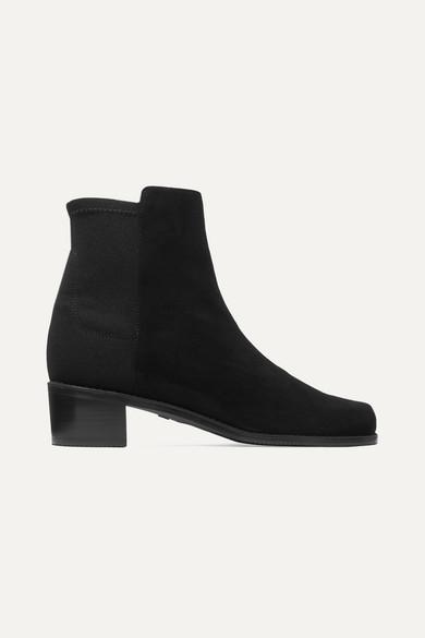 Easyon Reserve Ankle Boots Aus Veloursleder Und Neopren by Stuart Weitzman