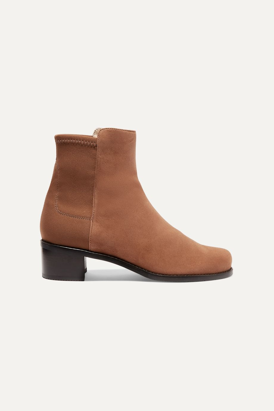 Stuart Weitzman Easyon Reserve suede and neoprene ankle boots