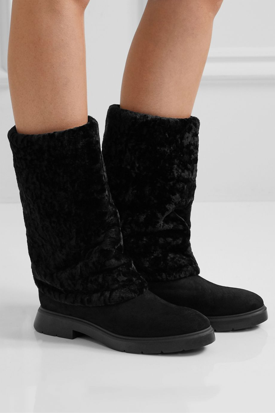 Stuart Weitzman Luiza Chill shearling-lined suede boots