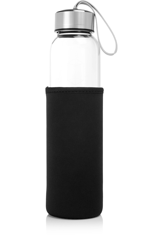 GLACCE Trinkflasche mit Rauchquarz