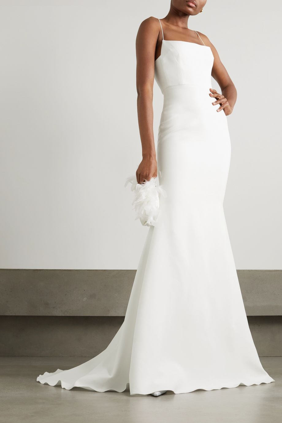 Alex Perry Eliza satin-crepe gown