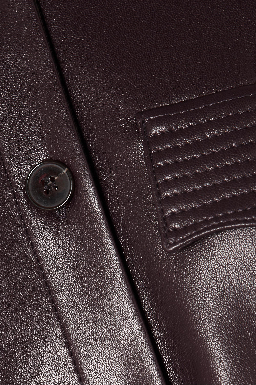 Nanushka Elpi vegan leather shirt