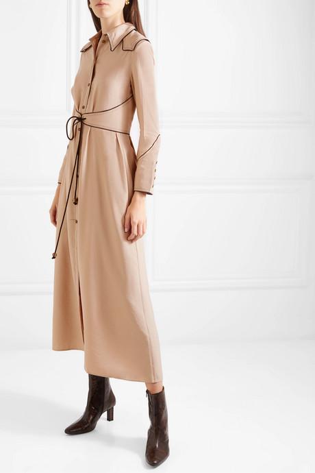 Parx belted poplin midi dress