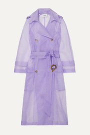 Tuscan belted organza trench coat