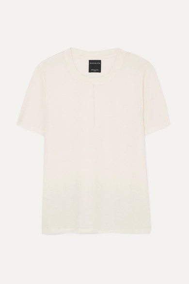 + NET SUSTAIN Trash merino wool-blend T-shirt