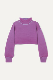 + NET SUSTAIN cropped ribbed organic cotton sweater