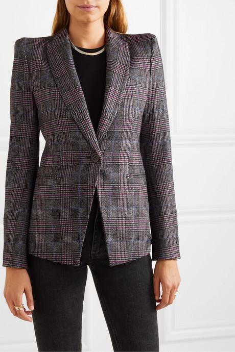 Brock Dickey checked wool-blend blazer