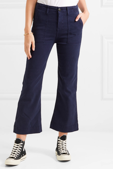 The Army Mariner stretch-Lyocell and cotton-blend flared pants