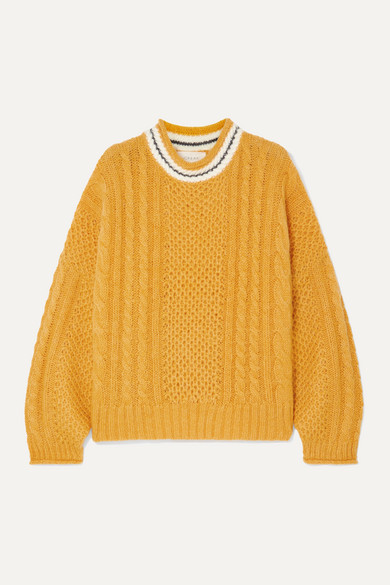 The Great THE CABLE KNITTED SWEATER