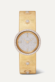 Macri 24mm 18-karat gold and diamond watch